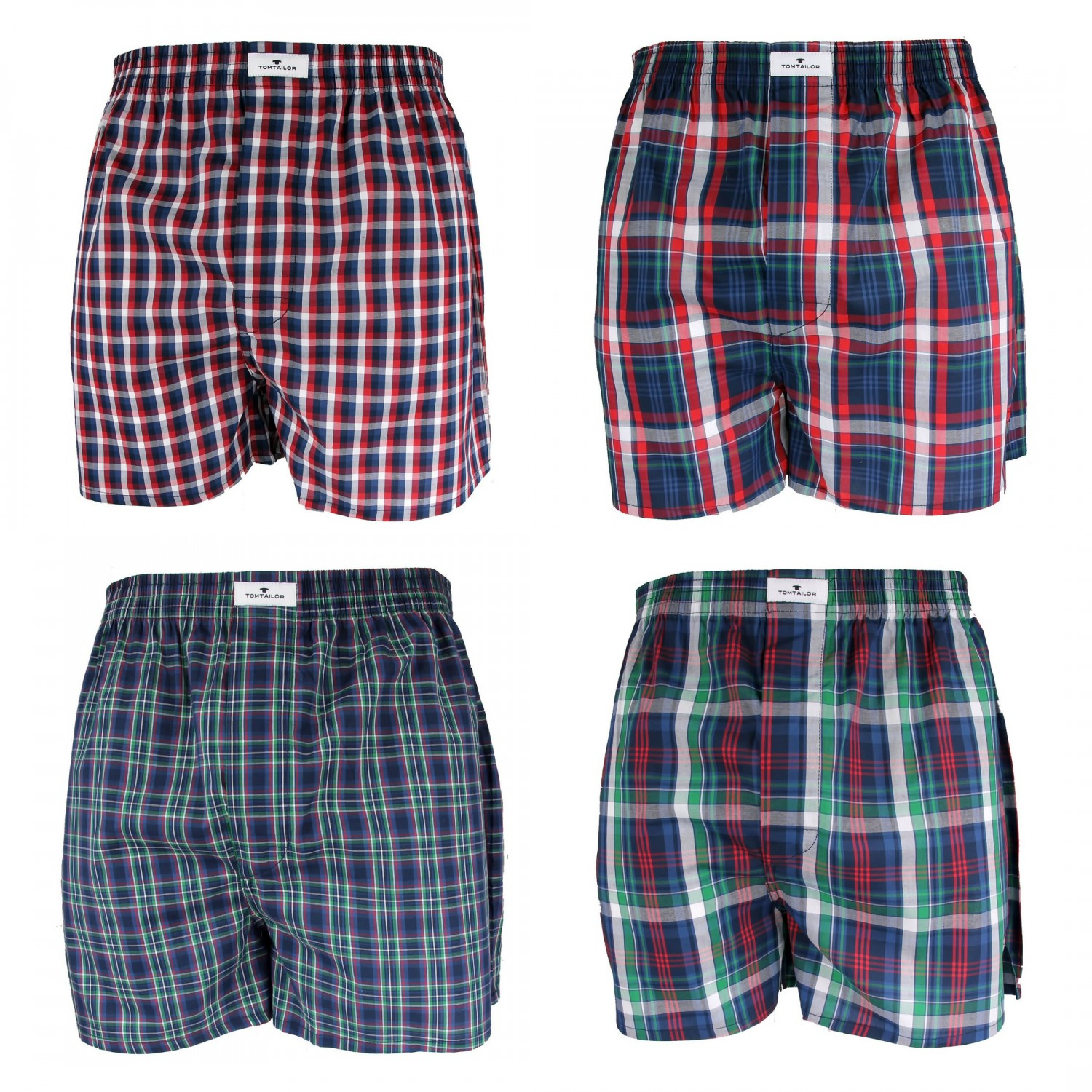 4 x tom tailor webboxer shorts boxershorts boxer herren. Black Bedroom Furniture Sets. Home Design Ideas
