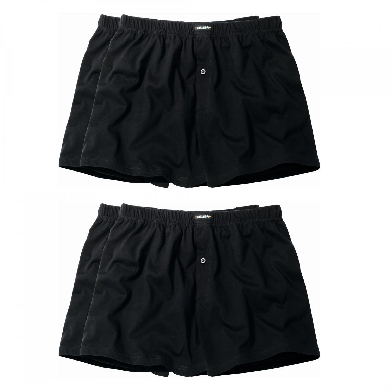 4 er pack ceceba jersey boxershorts pant unterhosen herren schwarz gr en xl 8xl. Black Bedroom Furniture Sets. Home Design Ideas