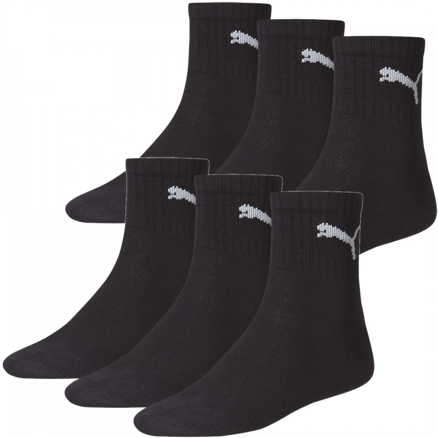 6 paar puma socken str mpfe schwarz geeignet f r sport. Black Bedroom Furniture Sets. Home Design Ideas