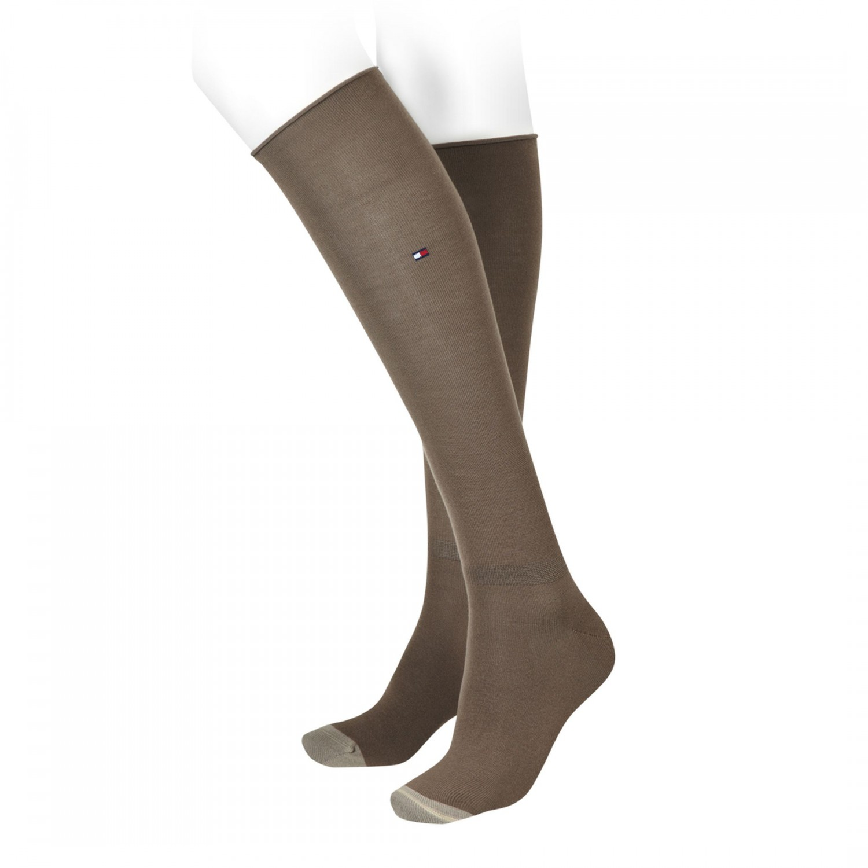 tommy hilfiger kniestr mpfe socken str mpfe damen braun ocker slouchy socks 35 38 39 42. Black Bedroom Furniture Sets. Home Design Ideas