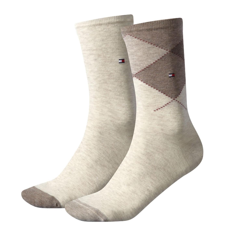 2 paar tommy hilfiger str mpfe damen placed argyle socks. Black Bedroom Furniture Sets. Home Design Ideas